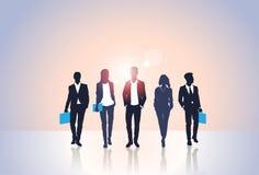 Kontur Team Businesspeople Group Human Resources för svart för affärsfolk Royaltyfri Fotografi