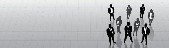 Kontur Team Businesspeople Group Human Resources för svart för affärsfolk Royaltyfri Bild