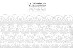 Konturbakgrund för Topographic översikt Topo-översikt med höjd Vektor för konturöversikt Geografiskt raster för världstopografiöv royaltyfri illustrationer