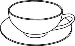 Konturbild av en kopp Royaltyfri Bild