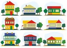 konturdesignen houses plan Arkivbild