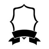 Konturemblem som är heraldiskt med svarta gränser Arkivfoto