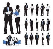 Konturer av begreppet för diskussion för affärsfolk det funktionsdugliga vektor illustrationer