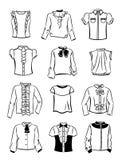 Konturer av blusar för flickor Arkivbild
