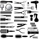 Konturer av hjälpmedel för frisören Royaltyfri Bild