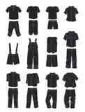 Konturer av kläder för pojkar Royaltyfria Bilder