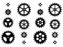 Konturer av kugghjul, vektorillustration Royaltyfri Bild