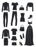 Konturer av modekläder Royaltyfri Fotografi