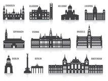Konturer av städer Fotografering för Bildbyråer