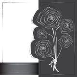 Konturer av vallmo blommar på vykortet Royaltyfri Fotografi