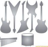 Konturer för musikinstrument Royaltyfri Foto