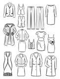 Konturerna av kvinnors kläder Royaltyfri Fotografi