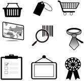 Konturförsäljningar och materiell symbolscollec för kommers vektor illustrationer