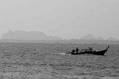 Konturfartyget på havet Fotografering för Bildbyråer