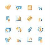 konturfinanssymboler vektor illustrationer