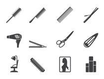 Konturfrisering, frisyr och sminksymboler Arkivbild