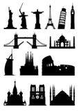 Konturgränsmärke royaltyfri illustrationer