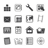 Konturmobiltelefon- och datorsymbol Arkivfoto