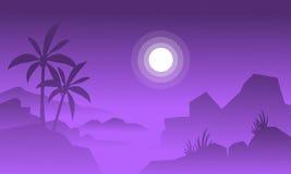 Konturn av stort vaggar och månen Arkivfoton