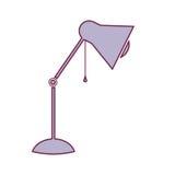 Konturnlampe des Desktops justierbar in hellpurpurnem vektor abbildung