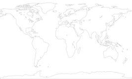 Konturowa mapa ilustracja wektor