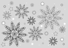 konturowe gwiazdy ilustracja wektor