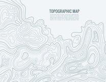 Konturowej linii mapa Elewacja obrysowywa kontur kartografii teksturę Topograficzny reliefowej mapy tło ilustracji