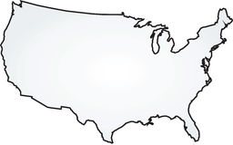 konturowej mapy kontur twierdzić usa Zdjęcia Stock