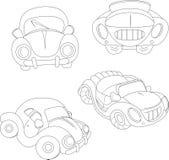 Konturowy kreskówka samochód Zdjęcie Royalty Free