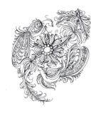 konturowy rysunek kolorystyka Petrikovskaya obraz Obraz Stock