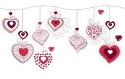 konturowych serc horizonatal deseniowy bezszwowy ilustracji