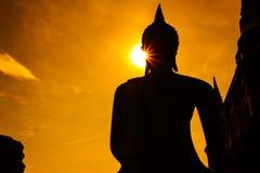 Konturplats för Buddhastaty Royaltyfri Fotografi