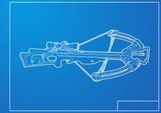 Konturu crossbow Zdjęcia Royalty Free