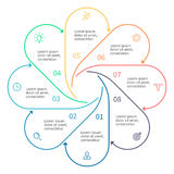 Konturu infographic element z strzała Fotografia Royalty Free