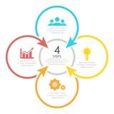 Konturu round infographic element Obrazy Stock