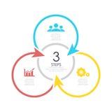 Konturu round infographic element Obrazy Royalty Free