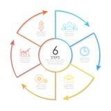 Konturu round infographic element Zdjęcie Stock