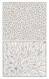 Konturu set z abstrakcjonistycznymi tło obrysowywa witraż, imitacja znakomicie łamający szkło ilustracja wektor
