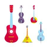 Konturu StringedBowed Wektorowi instrumenty muzyczni ilustracja wektor