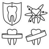 Konturu zębu ikony royalty ilustracja
