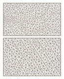 Konturuppsättningen med abstrakta bakgrunder drar upp konturerna av målat glass, efterföljd av fint brutet exponeringsglas vektor illustrationer