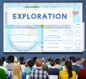 Kontynentów Coordinates eksploraci Geological kartografia Concep obraz stock