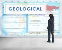Kontynentów Coordinates eksploraci Geological kartografia Concep zdjęcia royalty free