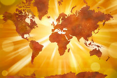 kontynentów mapy świat Obrazy Royalty Free
