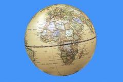 Kontynent Afryka Przedstawiał na Światowej kuli ziemskiej Zdjęcia Stock
