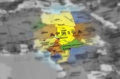 Kontynent Afryka - selekcyjna ostrość Zdjęcia Royalty Free