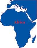 kontynent afrykański Zdjęcia Stock