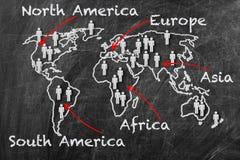 kontynent mapa obraz royalty free