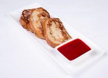 Kontynentalny śniadanie - grzanka, dżem Fotografia Royalty Free
