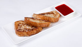 Kontynentalny śniadanie - grzanka, dżem Zdjęcie Stock